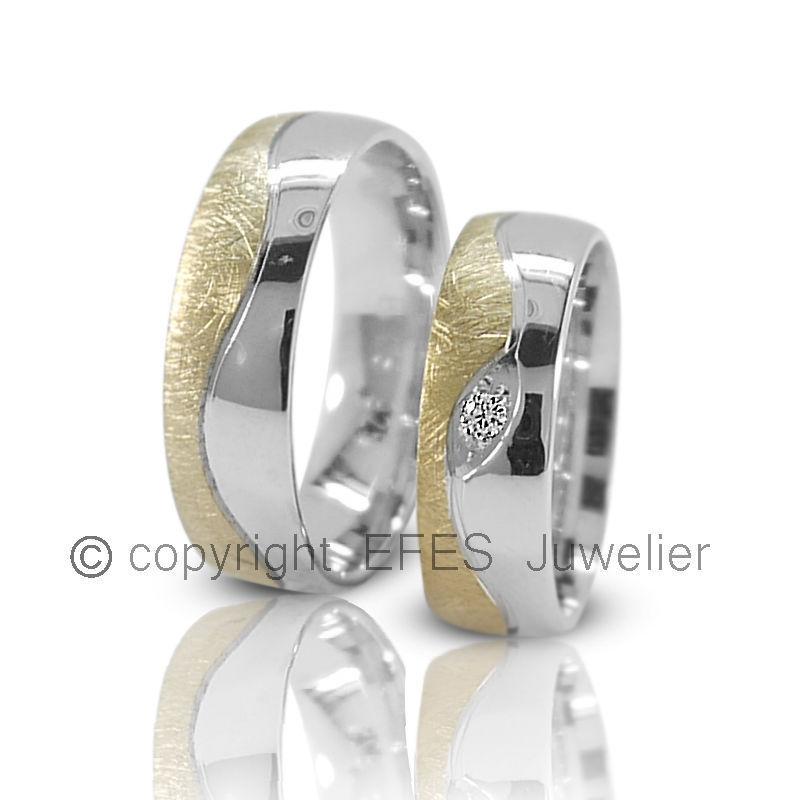Silber 925 J129-1B Trauringe  Eheringe Verlobungsringe mit echten Blautopas