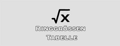 Ringgrößen Tabelle